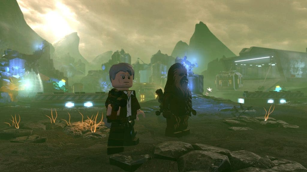 LEGO Star Wars- The Force Awakens han solo y chewie