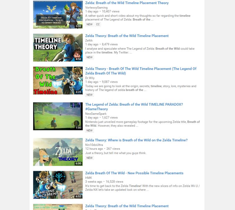 Zelda Youtube