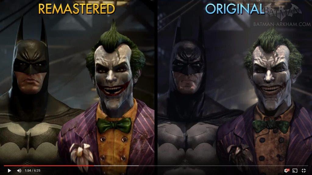 Batman return to arkham comparison