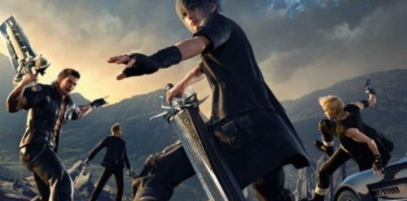 Se muestra la portada norteamericana de Final Fantasy XV
