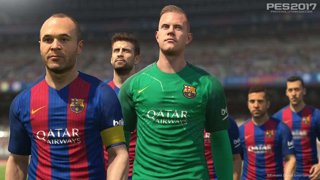 PES 2017 - FC Barcelona - Faces