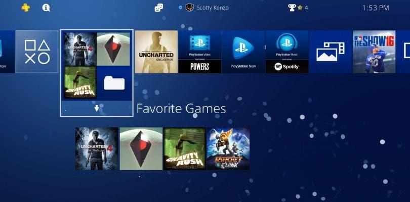 Nuevas capturas sobre el firmware 4.0 de PlayStation 4