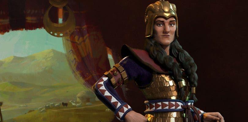 Tomyris presenta a los escitas en Civilization VI