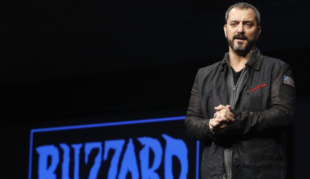 Chris Metzen of Blizzard Entertainment speaks during the PlayStation 4 launch event in New York