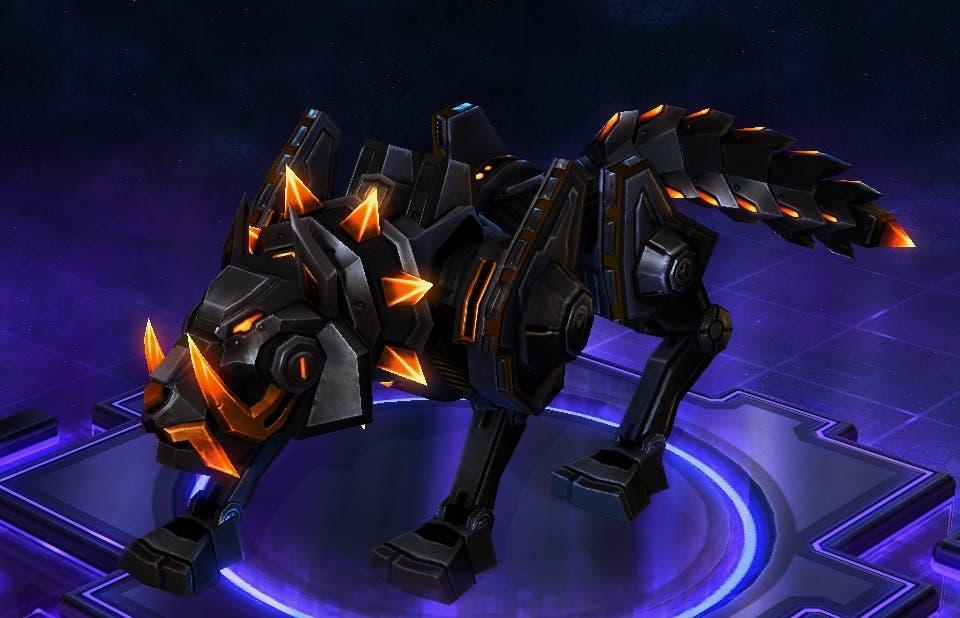 Lobo cibernético de obsidiana