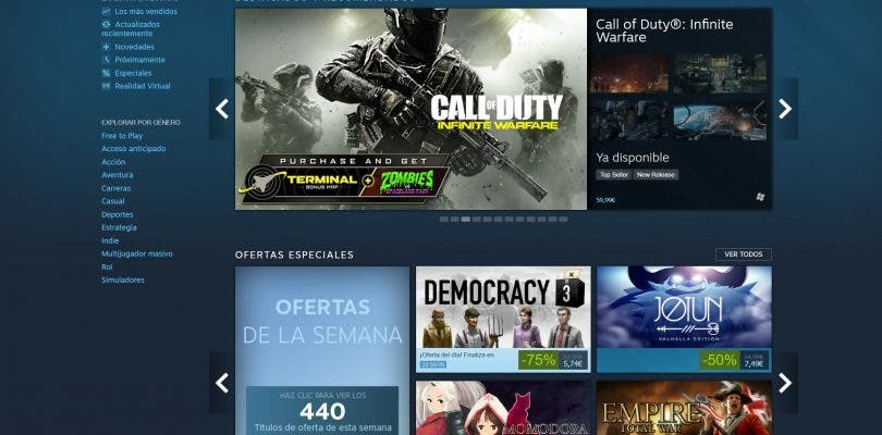 Steam se actualiza y estrena nueva interfaz