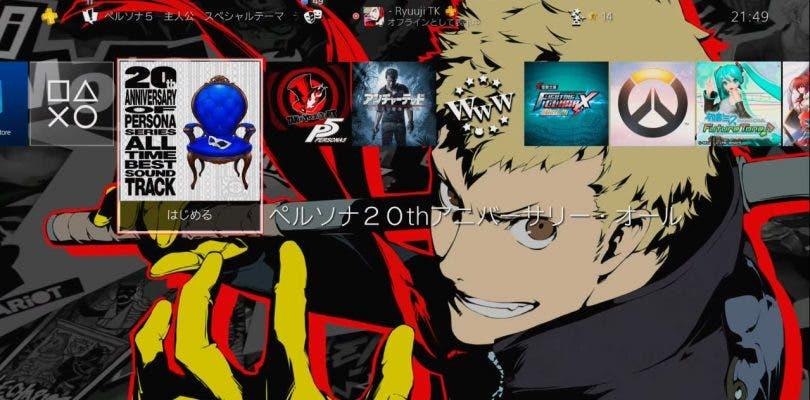 Consigue este tema gratuito de Persona 5 para PS4 solo por hoy