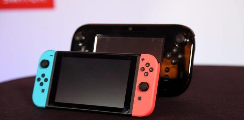 Comparativa de tamaño entre los controles de Wii, Wii U y Switch