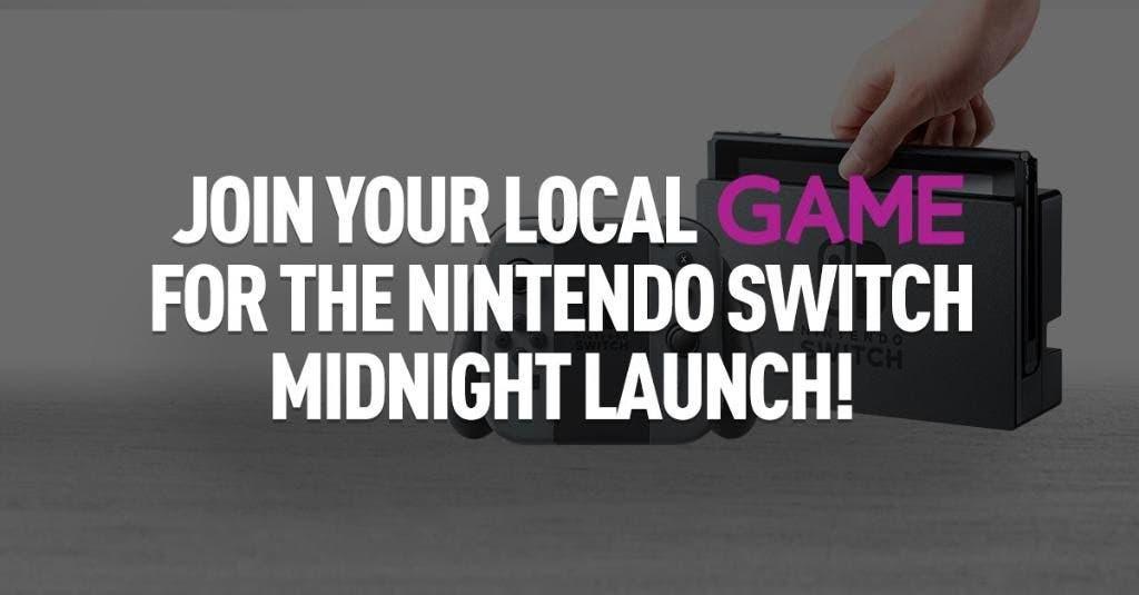 Game Reino Unido venta a medianoche de Nintendo Switch