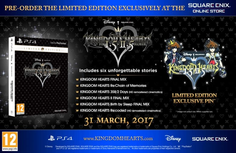 Edición limitada de Kingdom Hearts 1.5 + 2.5