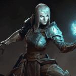 La versión femenina del nigromante se muestra en Diablo III