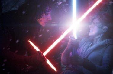 """Rey y Kylo Ren """"luchan"""" en Star Wars: Los Últimos Jedi"""