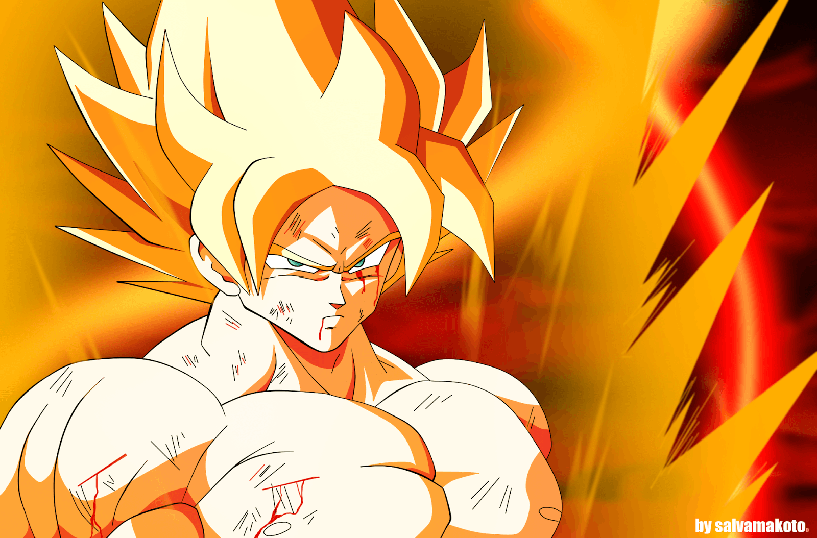 Las 22 transformaciones de goku en dragon ball - Goku 5 super saiyan ...