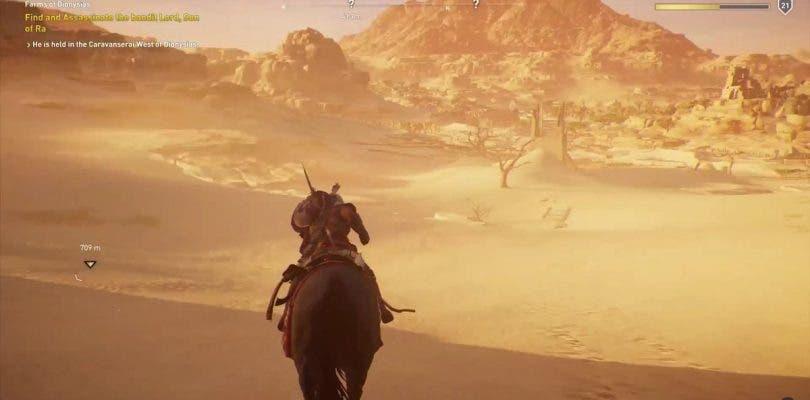 Así serán las tormentas de arena en Assassin's Creed Origins