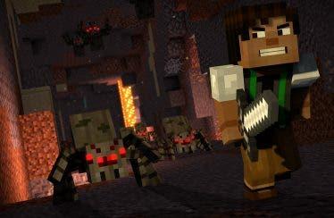 El siguiente capítulo de Minecraft: Story Mode estrena un nuevo vídeo