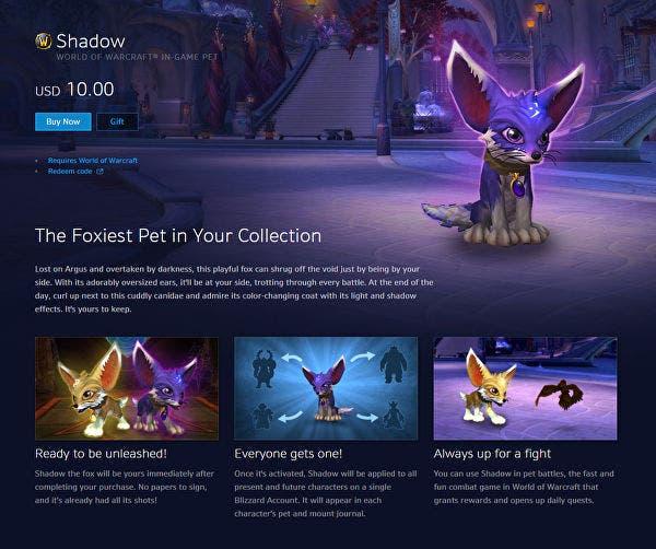 Blizzard Shadow el Zoroo
