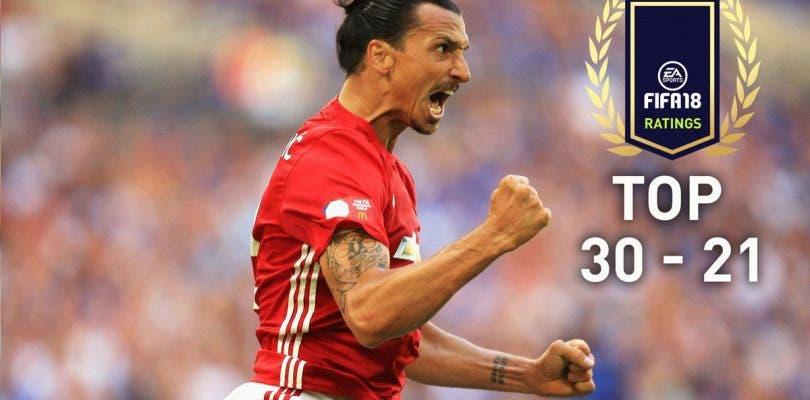 TOP 100 valoraciones de jugadores en FIFA 18, del 30 al 21