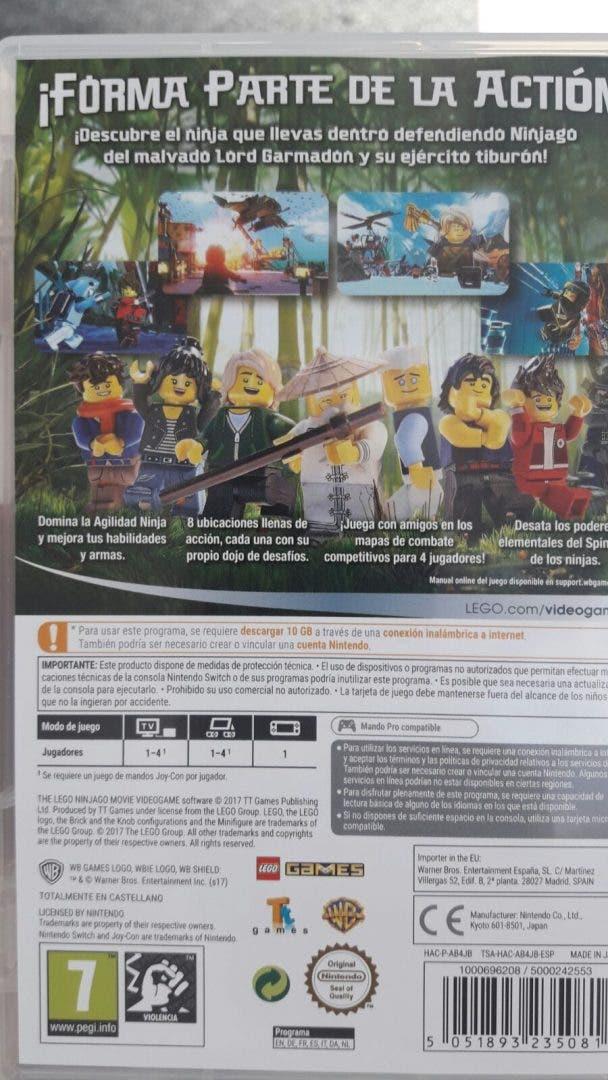La Lego Ninjago Pelicula No Trae Tarjeta En Nintendo Switch
