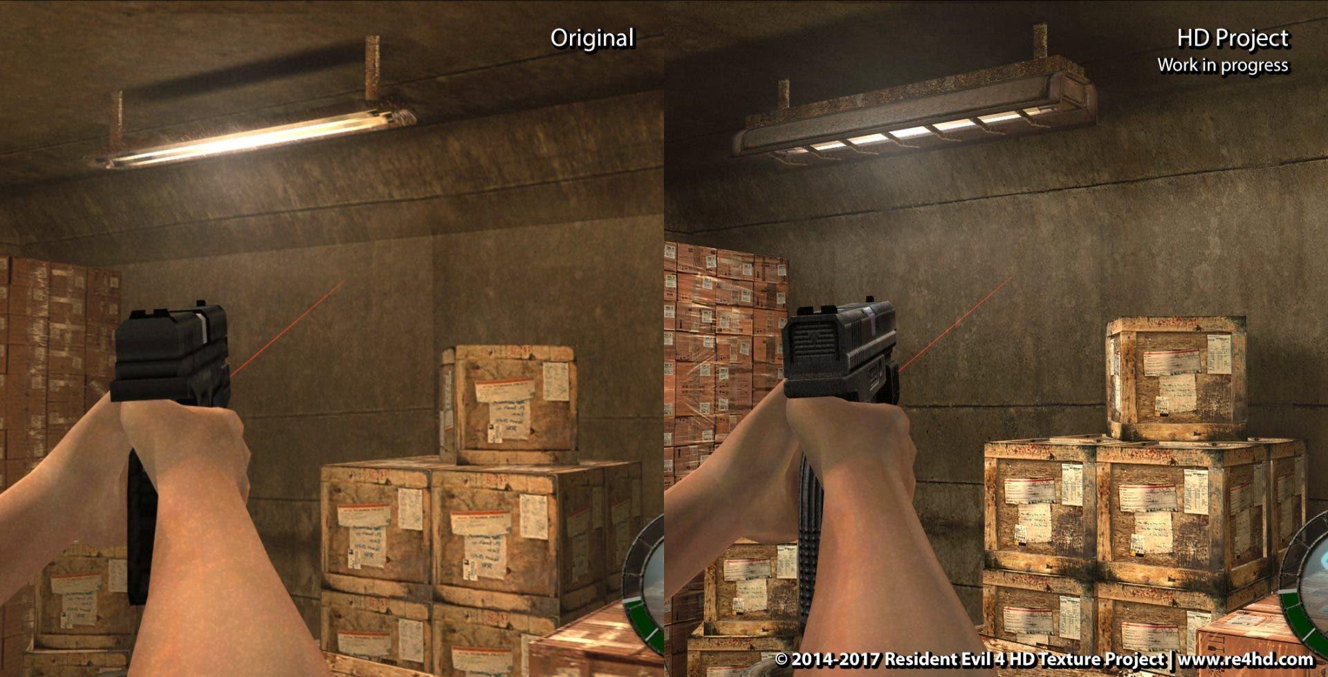Así se ve la remasterización en HD de Resident Evil 4 creada