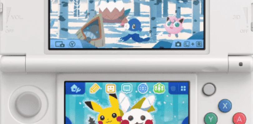 Nintendo 3DS recibe un nuevo tema navideño de Pokémon
