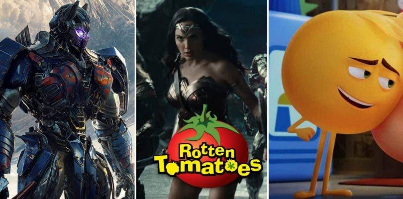 Justice League, La Momia, y Transformers entre lo peor de 2017 en Rotten Tomatoes