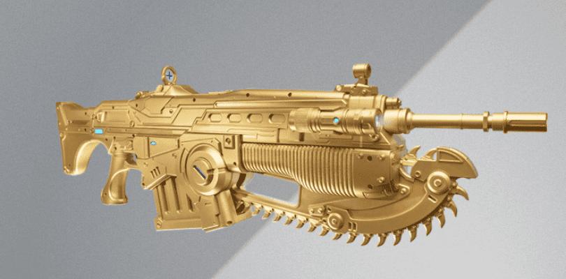 Ya se puede comprar el lancer dorado réplica de Gears of War 4