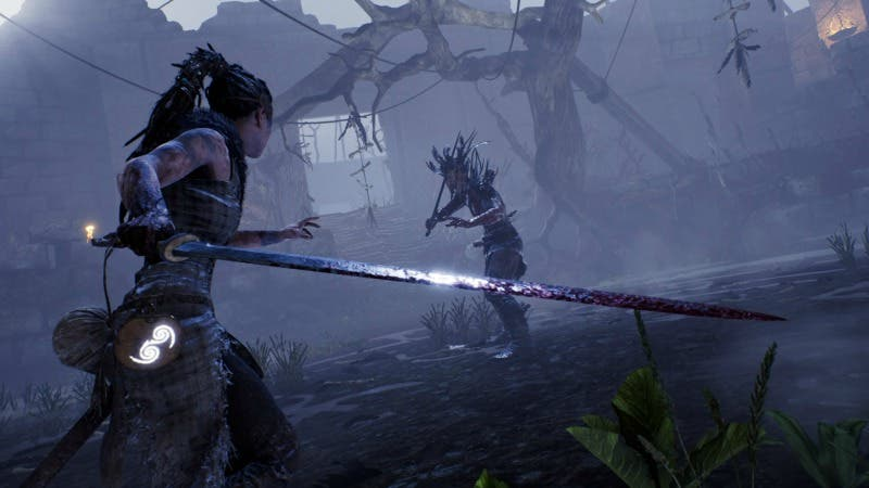 Imagen de Hellblade: Senua's Sacrifice se muestra en un gameplay off-screen para Nintendo Switch