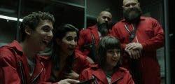 Telefónica viste su edificio de La Casa de Papel con motivo de la unión con Netflix