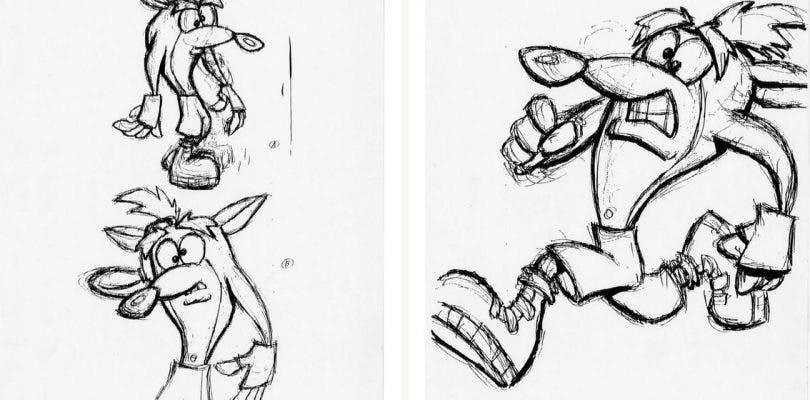 Se publican algunos de los bocetos originales de Crash Bandicoot