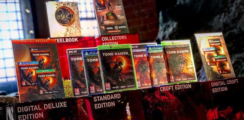 Se muestran las diferentes ediciones de Shadow of the Tomb Raider