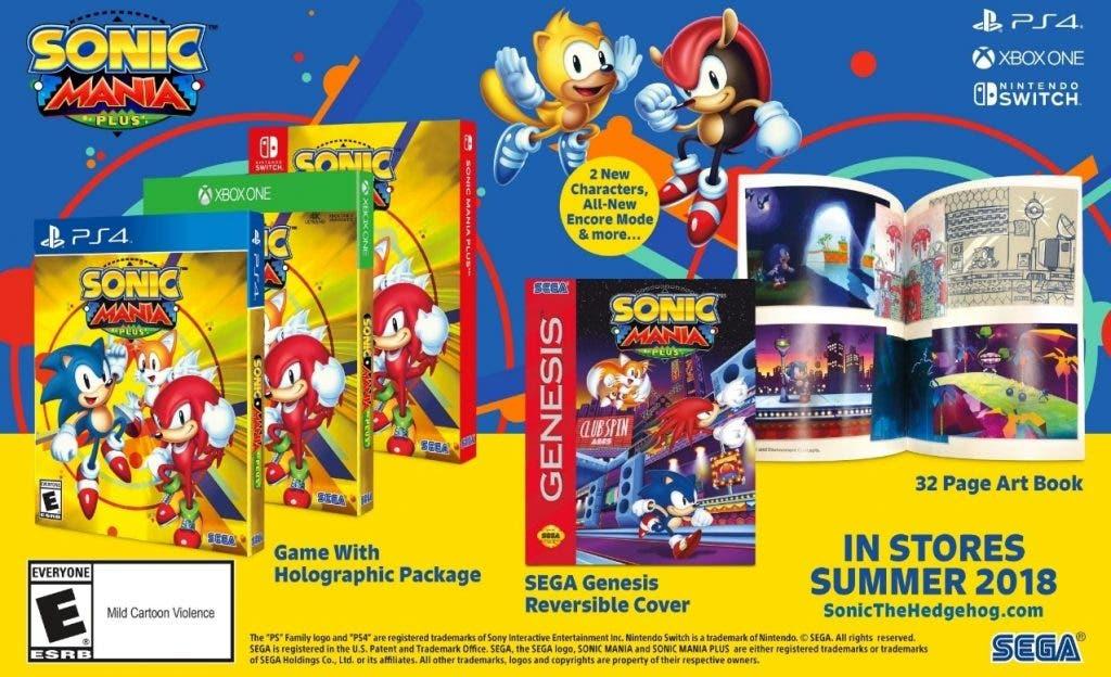 Edición física de Sonic Mania