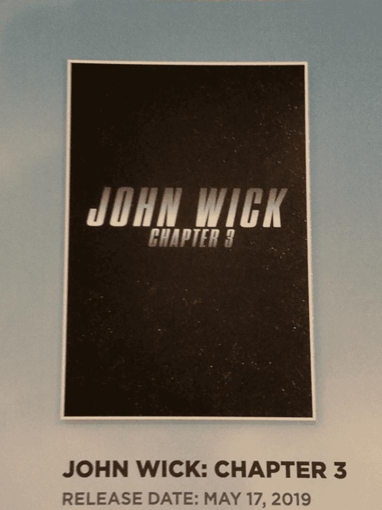 John Wick 3 Revela Su Primer Poster Y La Sinopsis Oficial De La Pelicula