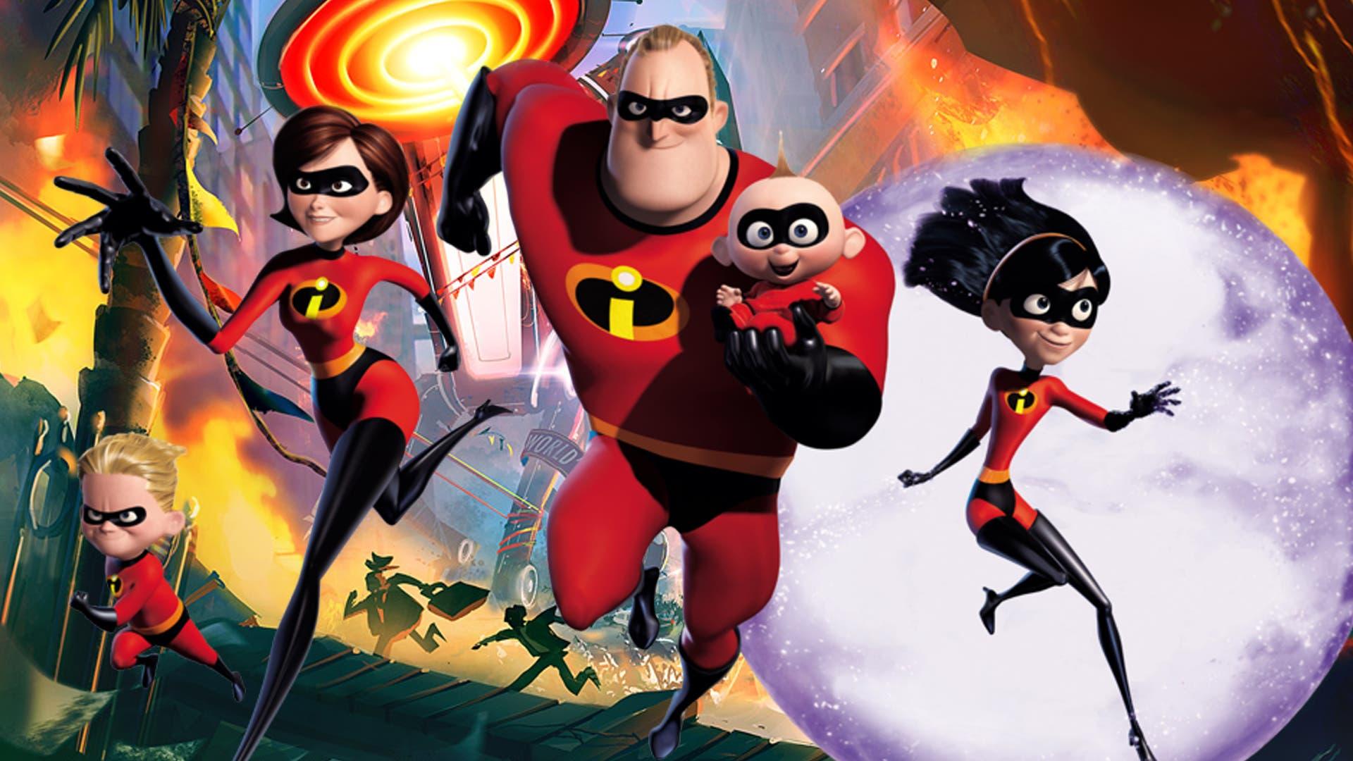 Imagen de Pixar muestra el proceso de creación de una escena de Los Increíbles 2