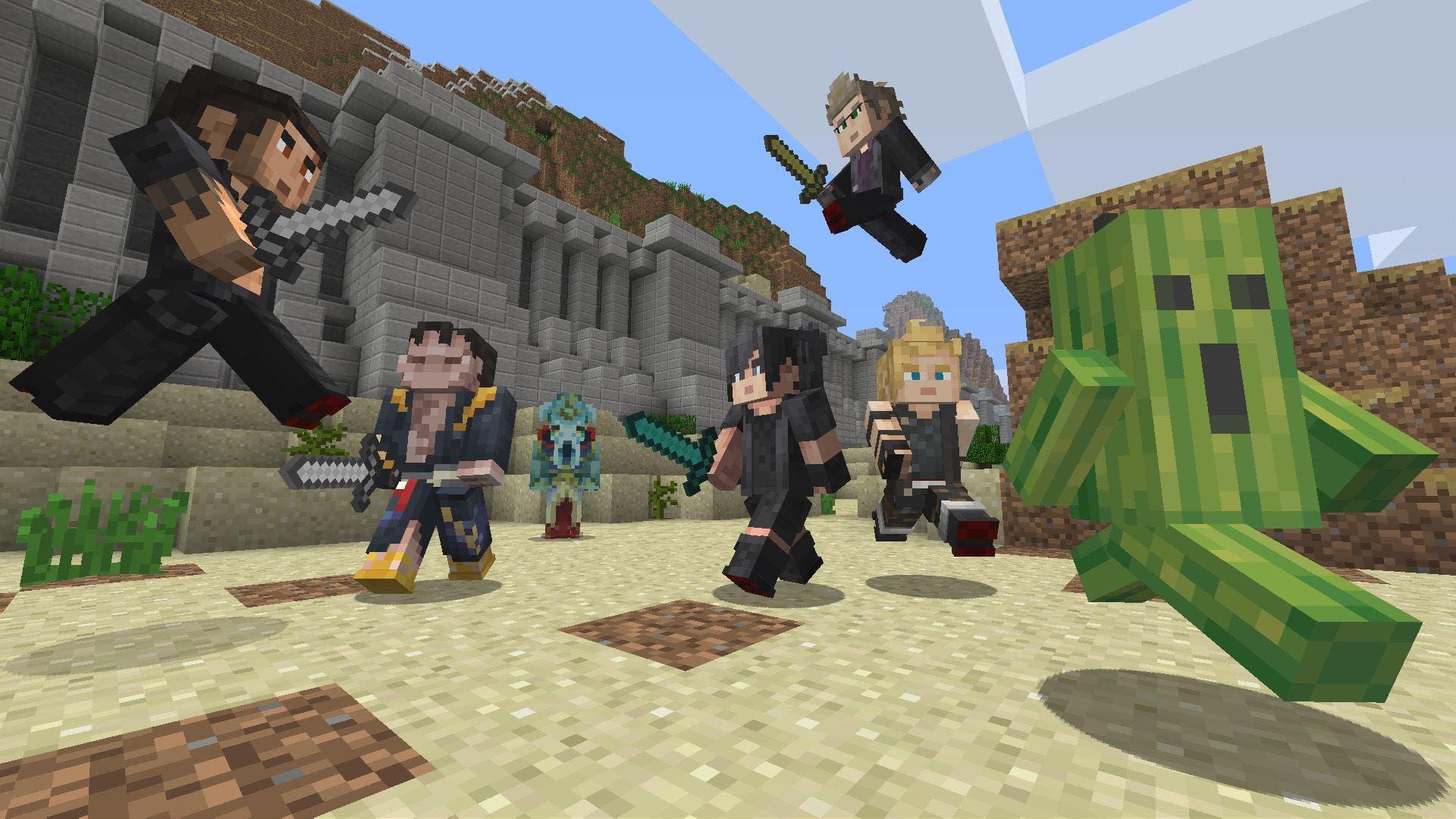 Imagen de Minecraft recibe un nuevo pack de skins basado en Final Fantasy XV