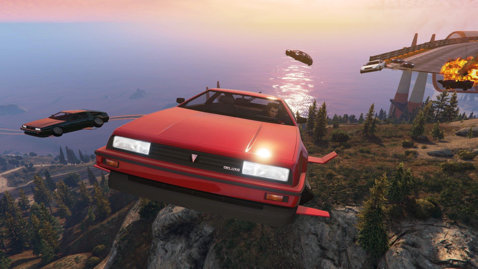Imagen de Ya disponibles en GTA Online las carreras con Deluxo, Stromberg y Thruster