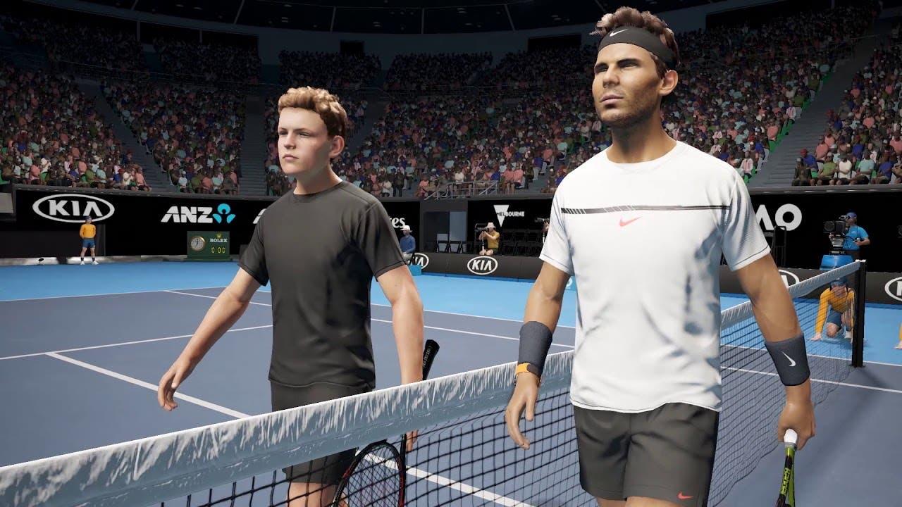 Imagen de AO International Tennis muestra su variedad de golpeos en vídeo