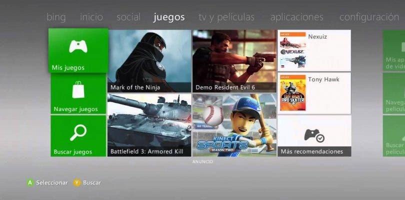 La veterana Xbox 360 recibe una nueva actualización