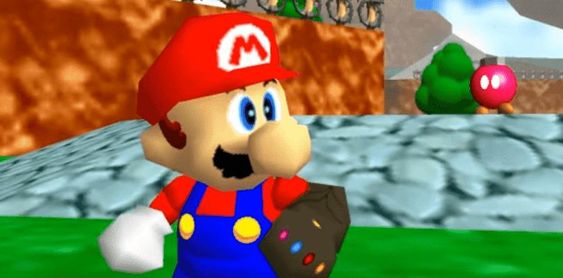 Mario vence a Thanos y se alza con el guantelete del infinito en este mod