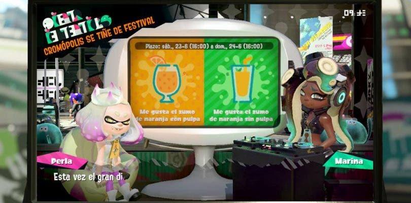 Comienza el festival de Splatoon 2: ¿Cómo te gusta más el zumo?