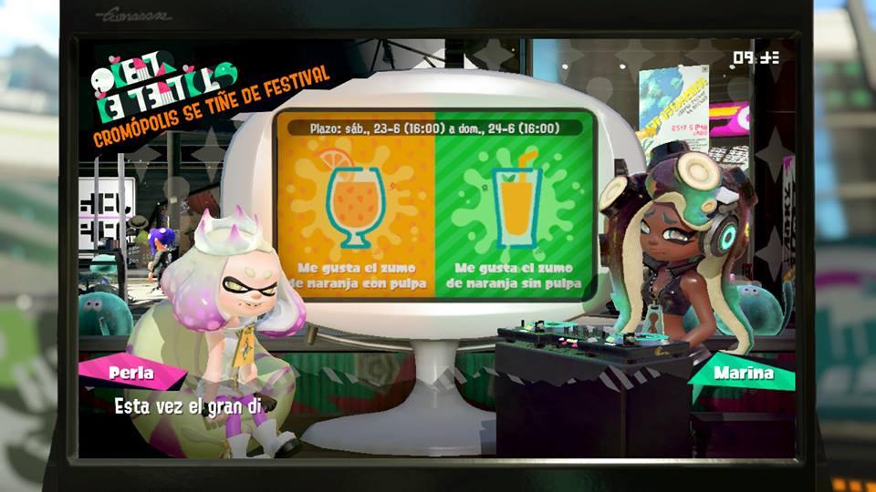 Imagen de Comienza el festival de Splatoon 2: ¿Cómo te gusta más el zumo?