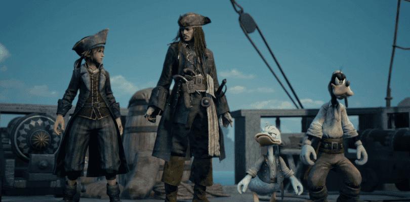 Kingdom Hearts III se luce como nunca en su mundo de Piratas del Caribe