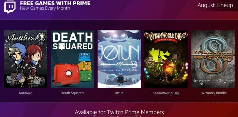 Twitch Prime vuelve a la carga regalando siente nuevos títulos en agosto