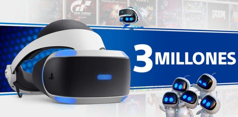 Sony celebra los 3 millones de unidades vendidas de PlayStation VR