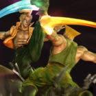Kinetiquettes da forma a un espectacular diorama de Guile y Charlie Nash de Street Fighter