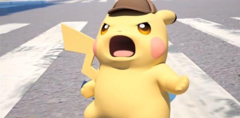 Luces de neón para el logotipo oficial de Detective Pikachu