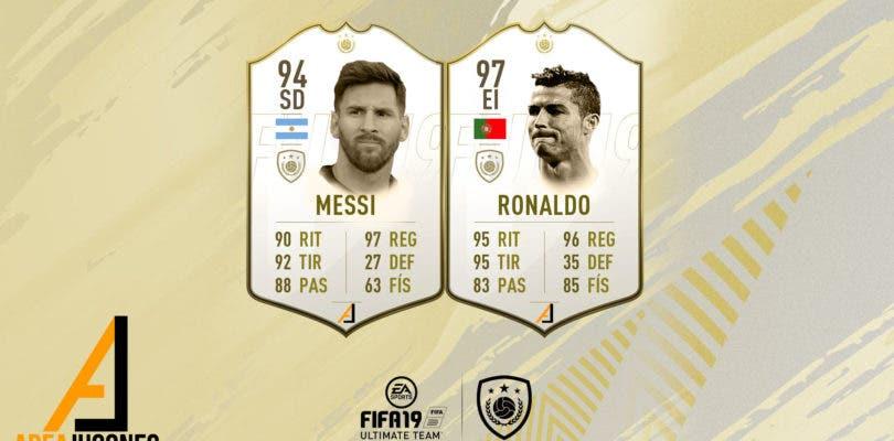 Así podrían ser los Iconos de Cristiano Ronaldo y Messi en los próximos FIFA