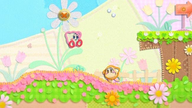 Kirby en el reino de los hilos