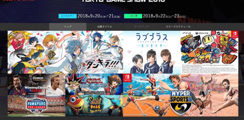 Konami confirma los títulos que llevará al Tokyo Game Show 2018