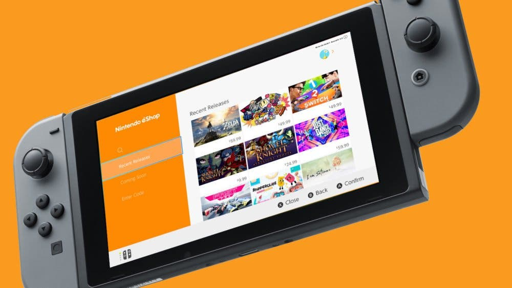 nintendo eshop consola virtual switch