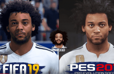 FIFA 19 vs PES 2019 en una comparación gráfica de los jugadores